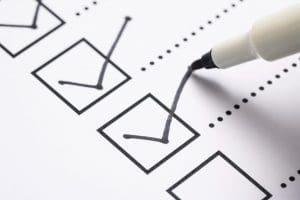 Removals checklist